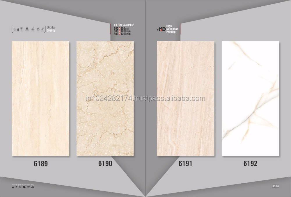 2016 New fashion good quality Sublimation micro crystal glossy porcelain tiles for Printing Photos 6192