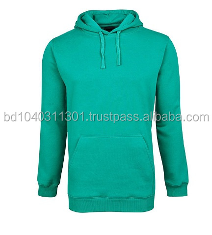 Mens / Unisex Plain Classic Wholesale Custom Fleece Cotton Basic Plain Pullover Hoodies With Hood