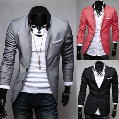 DESIGNER STYLE SUMMER BLAZER / MEN'S SUMMER BLAZER WITH POCKET AND COLLAR