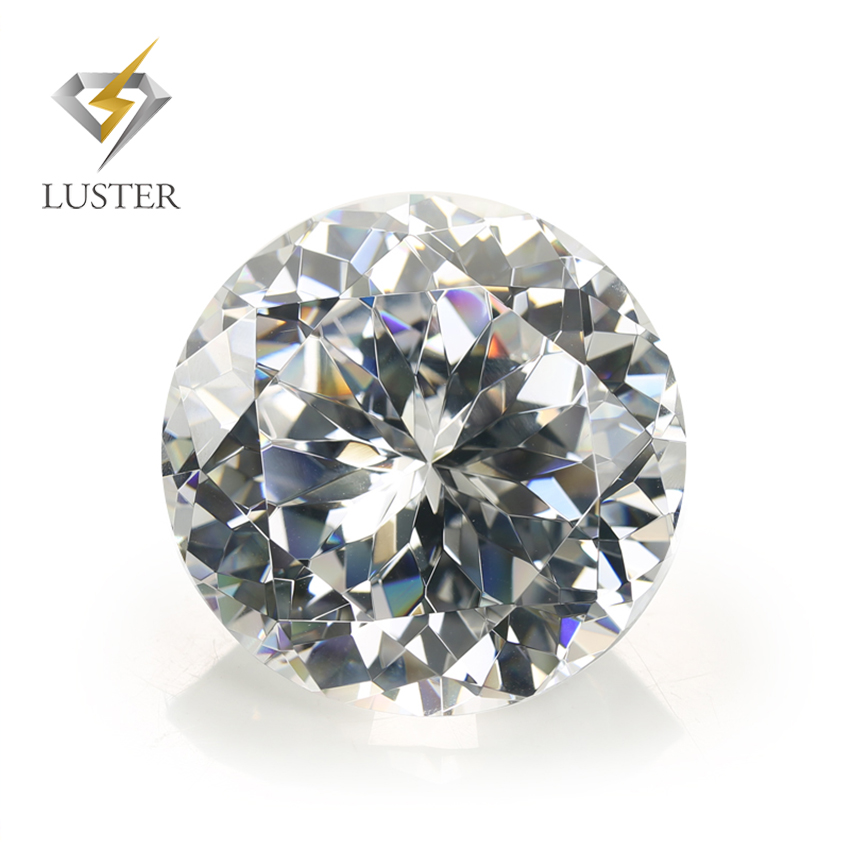 Luster synthetic top quality large size CZ gemstone