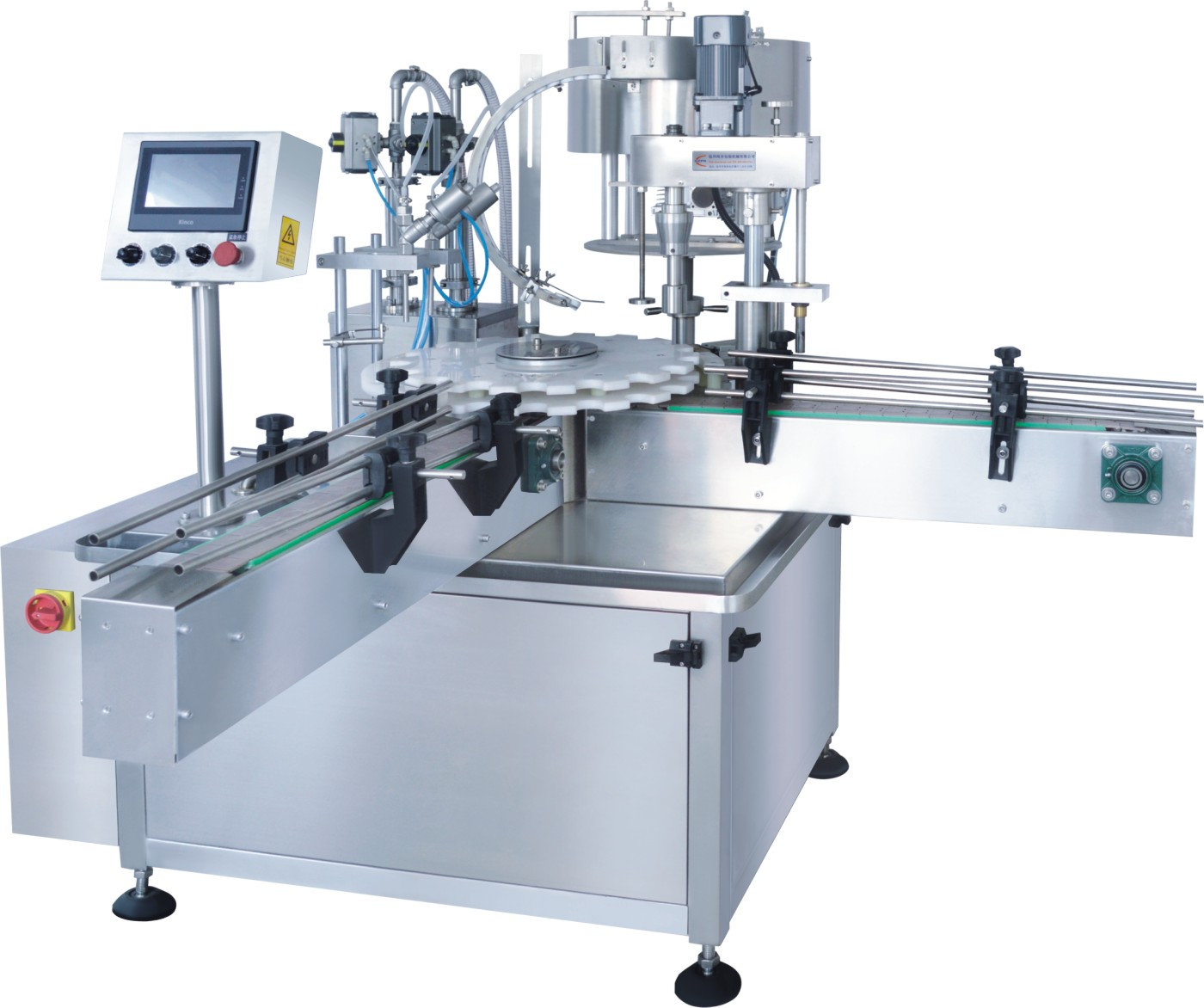 High Efficient Eliquid vape automatic filling capping sealing labelling packaging machine