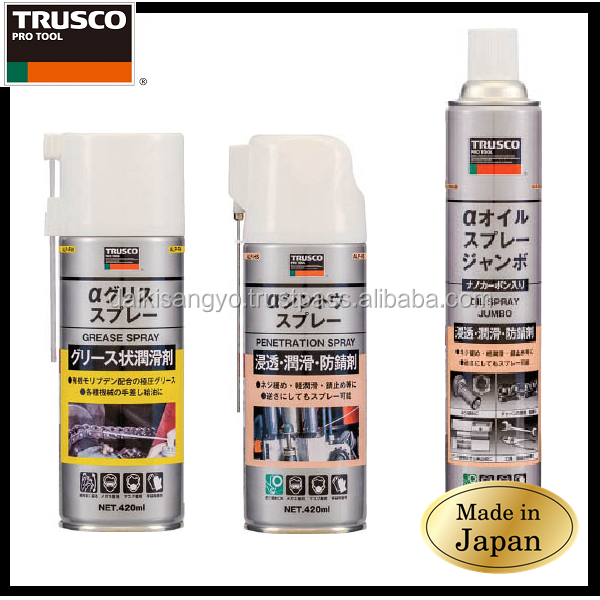 Best-selling and Reliable lubricant oil of motor TRUSCO Grease Spray with multiple functions made in Japan