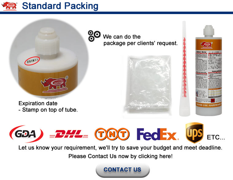 Vinyl ester resin chemical anchor building construction materials