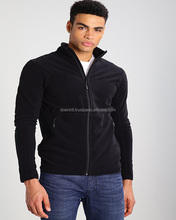 Black Fleece Simple Style Popular Men's Casual Workwear For Super Market Polar Fleece Anti-pilling Jacket