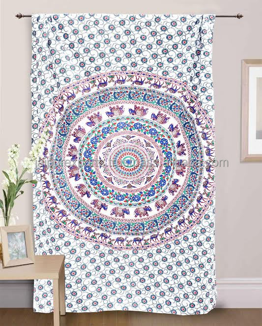 Traditional Indian Wall Hanging Bohemian BedRoom Curtains