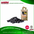 High Quality Raw Coconut Shell Made Pillow Shape Charcoal