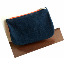Denim style small cosmetic bags and pouches