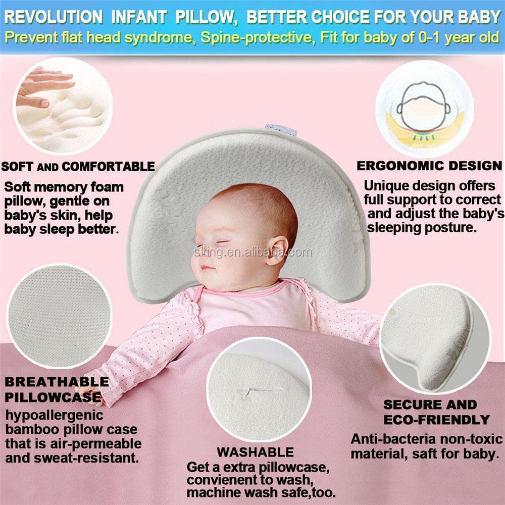 anti flat head baby pillow