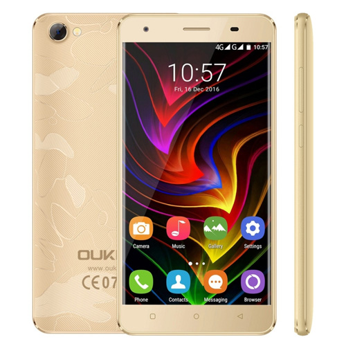 OUKITEL C5 Pro Smartphone 5.0 inch Android 6.0 MTK6737 Quad Core 1.3GHz 2GB RAM 16GB ROM 2000mAh Dual SIM Cheap Phone LTE 4G