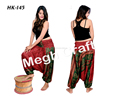 Hippie Style Belly Trousers Skirt- Trousers Loose High Waist- Indian Plazoo Trouser Pants- Women Black Silk Wide Leg High Waist