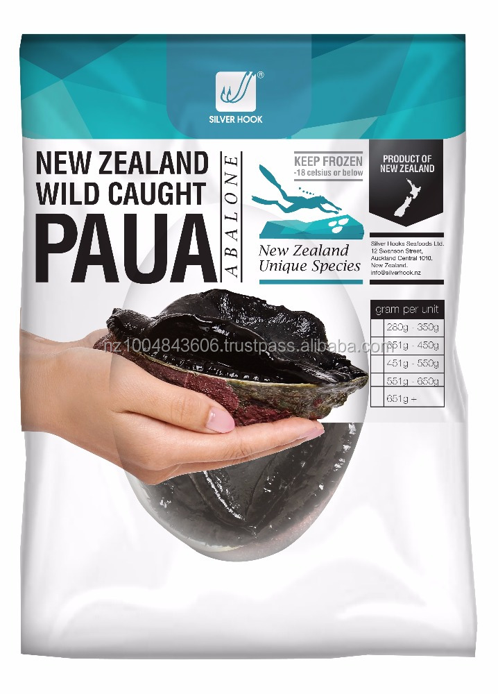 Frozen New Zealand Silverhook Paua/Abalone