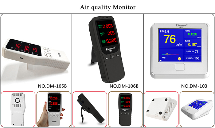 Black color air quality monitor -Dienmern brand