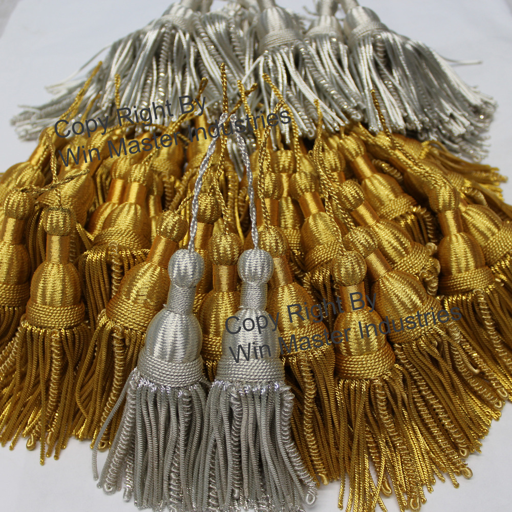 Military Gold Bullion Wire Metallic Tassels for Church Vestments