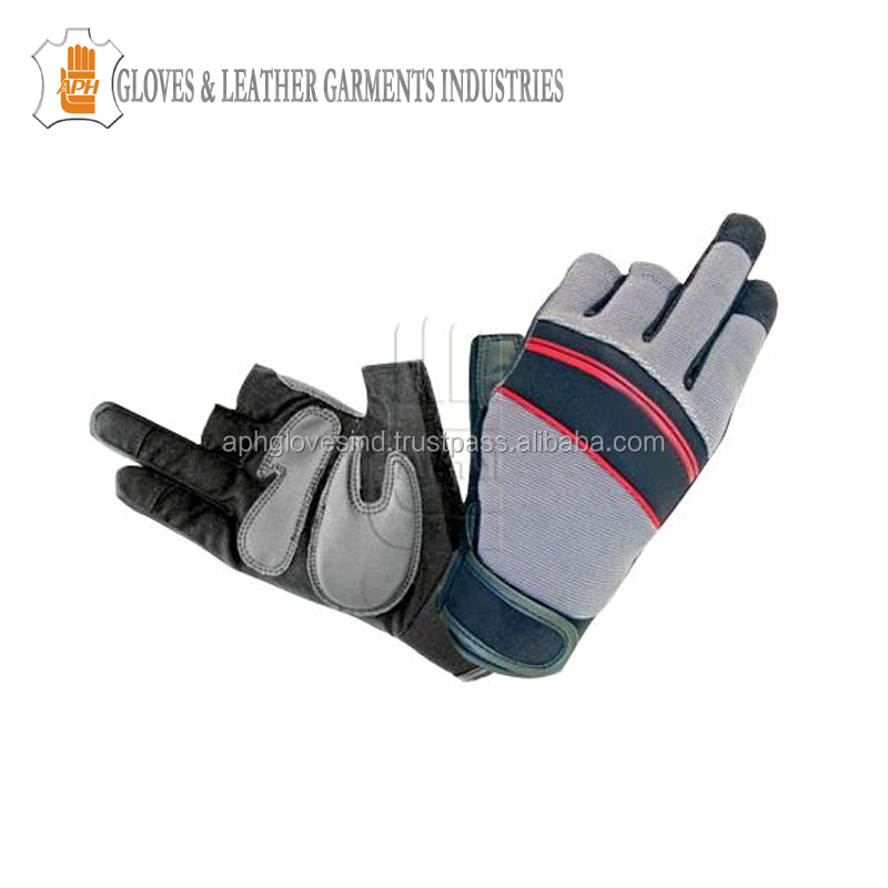 Half Fingers Screen Touch Hand Safety Mechanic Gloves Open Fingers Multifunctional