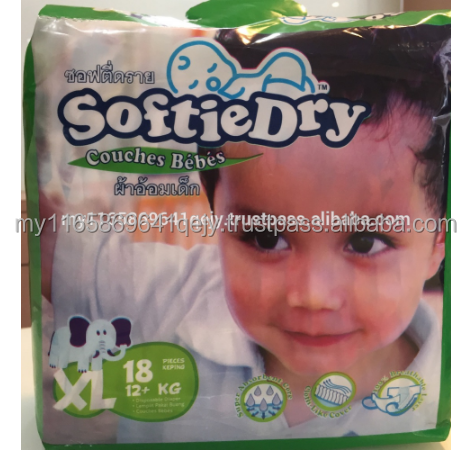 SoftieDry XL18 / Disposable Baby Diapers