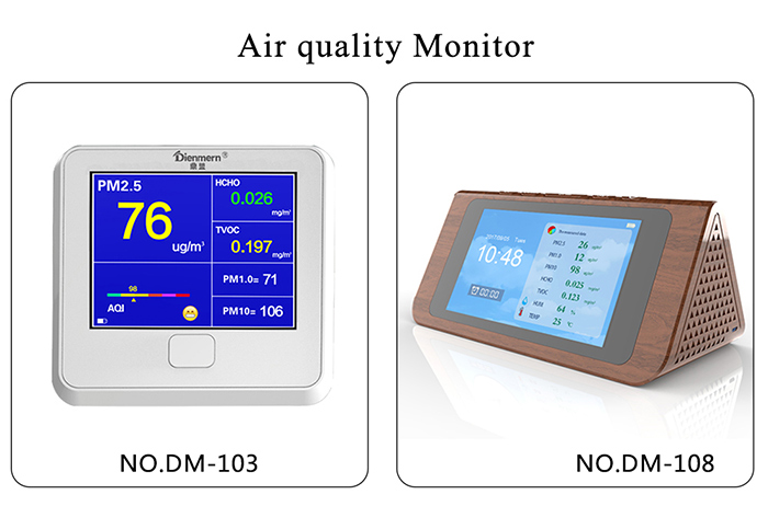 Smart home indoor air quality monitor PM2.5 PM1.0 PM10