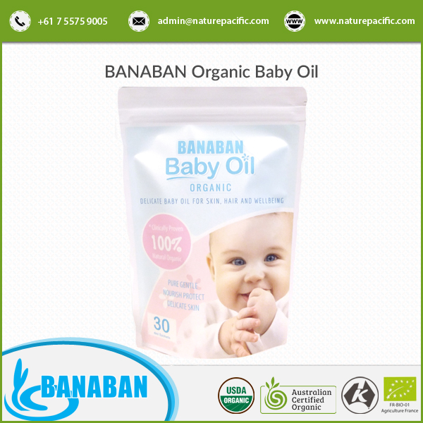 Dermatologist Tested Skin Naturals Australia Coconut Baby Massage Oil (Pure, Natural, Organic) BANABAN Organic Baby Oil