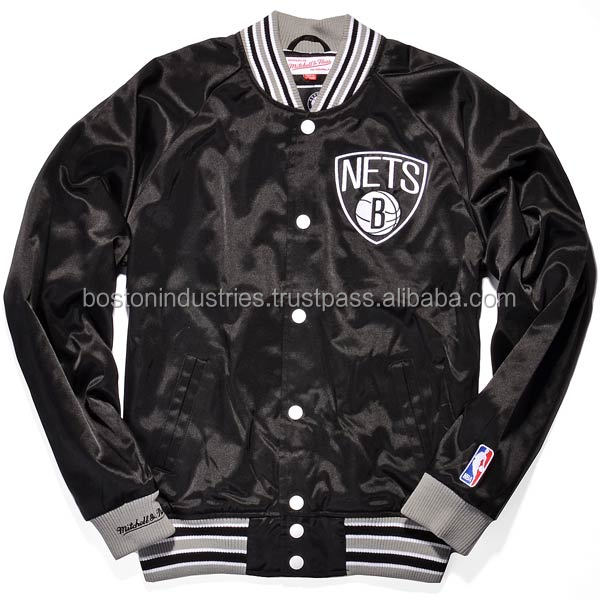 Custom Satin Jacket With Front/Back Name/Numbers Logo School/College Varsity Jackets