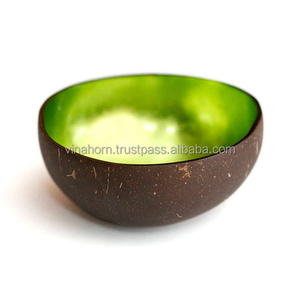 Eco-friendly and foodsafe coconut shell bow , lacquer coconut bowl, handicraft in Vietnam