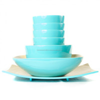 Best selling bamboo kitchenware / aqua spun bamboo bowl and plate