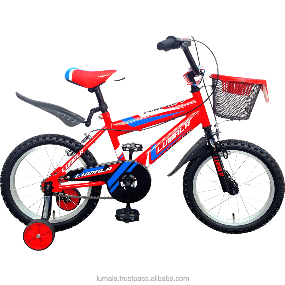 "12""/16""/20"" Childrens BMX Bicycle with Training Wheels and front Bucket Lumala Amplify"