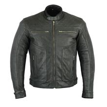 100% Genuine Top quality Cowhide Biker Leather Jacket For Men