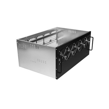 designed 4u SGCC 1.2mm rack mount pc case 12 gpu rackmount computer case for bitcoin miner