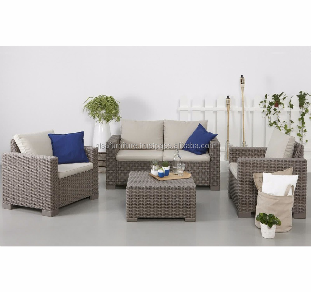 Bali Rattan Resin Wicker Material Indoor Outdoor Furniure Sofa set