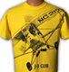 Reactive digital printing women cotton custom t shirt color yellow nice front print style for men