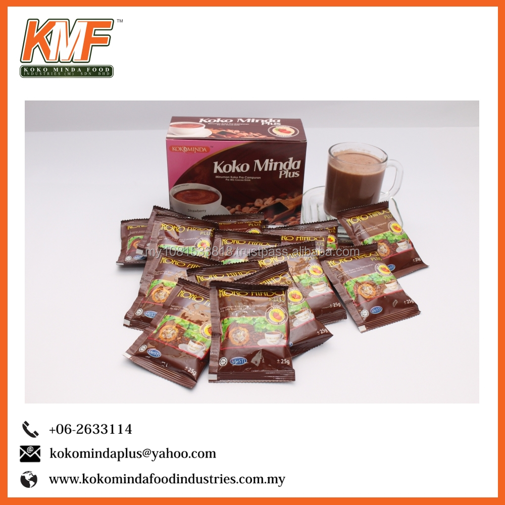 Kokominda Plus Premix Cocoa Susu Strawberry powder extract mass