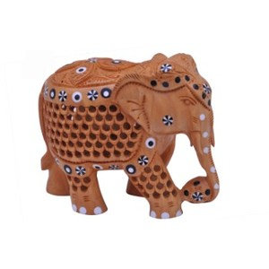 Wooden handicraft home and office decor wild animal elephant