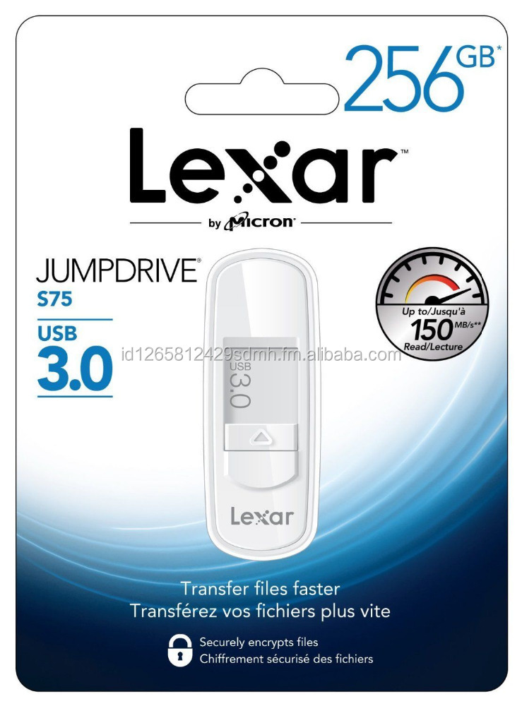 White - Jump Drive S75 256GB USB 3.0 Flash Drive - LJDS75-256ABNL