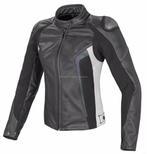 Women sports Motorbike Ladies Leather Jacket Motorcycle Racing Jacket--MWJ-106