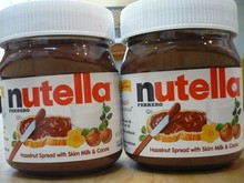 Nutella Hazelnut Spread Jars Ferrero Chocolate Skim Milk + Cocoa