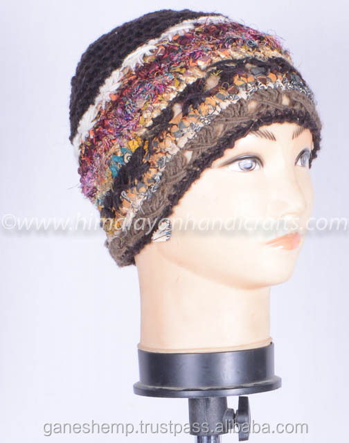 Handmade woolen winter hat , HHWTH 0042-C