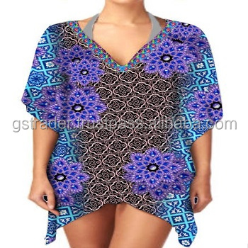 New Exclusive Design short poncho For ladies,Latest Design High Quality Chiffon Kaftan dress