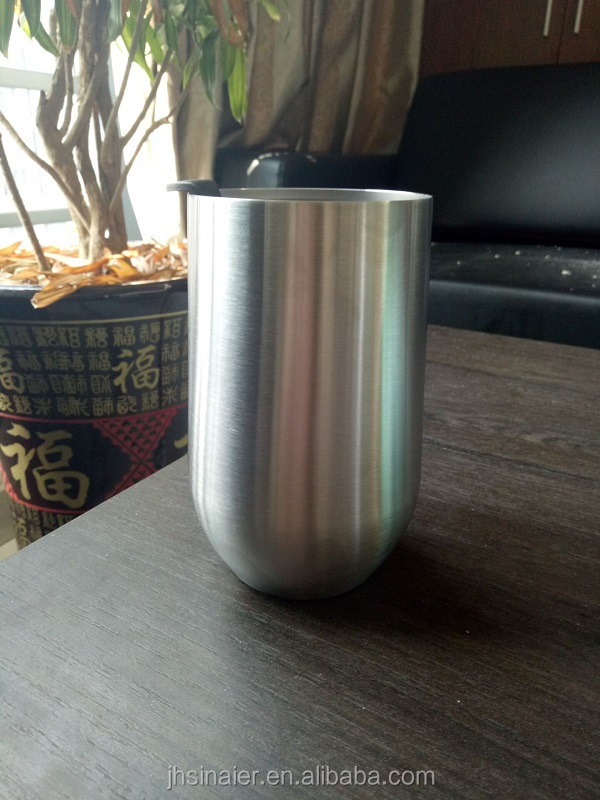 New Products Good Quality Hot Sale 16oz Double Wall Stainless Steel Insulated Wine Glass Tumbler/ Beer Mug