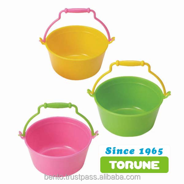 Bento box Colorful Plastic food Cup Bucket Gift Present