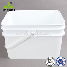 painted plastic 10 liter container with lid square bucket paint pail