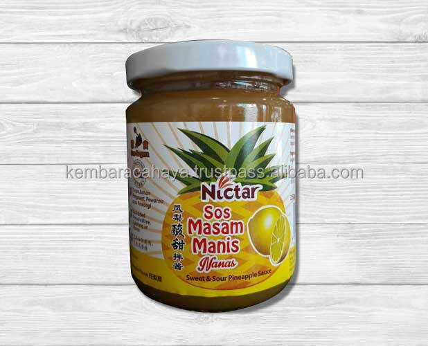 Sweet and Sour Pineapple @ Ananas Sauce Mixed in Lemon With Malaysia Halal Certified