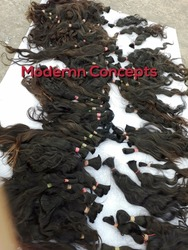 100% raw real human hair raw virgin unprocessed no chemical no tangle indian
