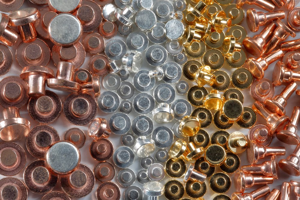 SOLID / BIMETAL RIVETS ELECTRICAL CONTACTS Made in Italy