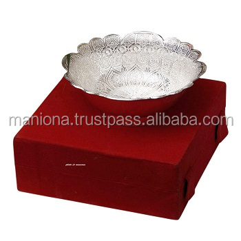 German Silver Bowl Ethnic Wholesale Wedding Gift Indian Handmade Traditional Diwali Gift