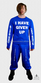Mens Custom Wholesale Sweat Suits for Better Look in Blue Color