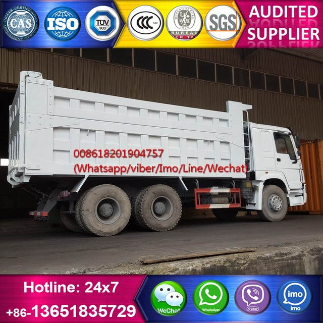 Used 336hp Howo 10 wheels tipper truck for sale