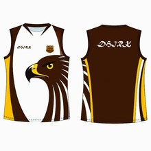 D 1250 promotional custom sublimation 100%polyester AFL rugby jerseys/uniform