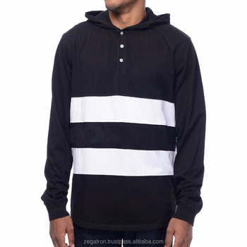 ZegaApparel cut and sew long sleeve hooded tshirt
