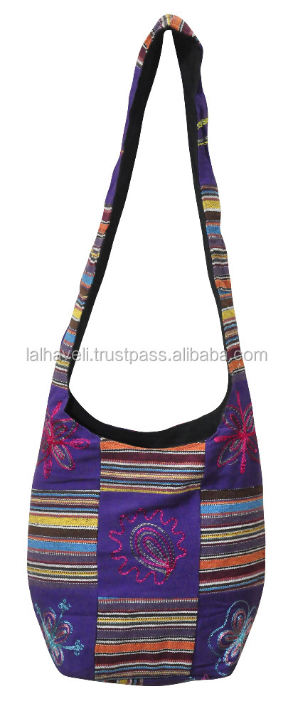 Indian Attractive Traditional Patchwork Embroidered Hand Bag Top Quality Indian Style Bag