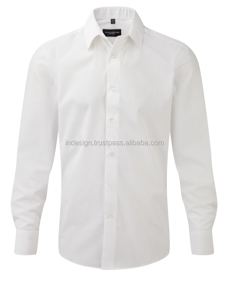 MEN'S LONG SLEEVE POLY COTTON EASY CARE TAILORED POPLIN SHIRT