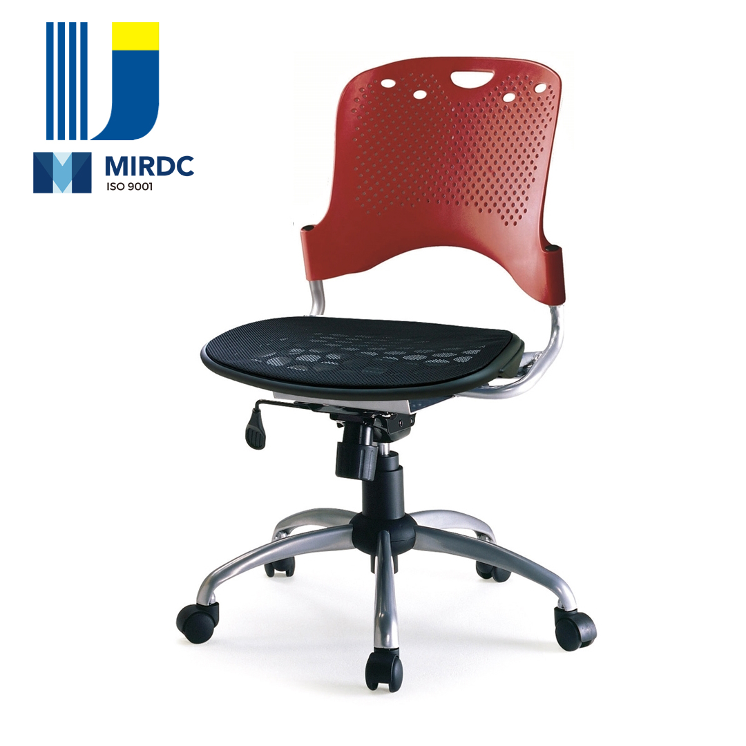 Plastic steel frame office task desk chair height adjustable with arm Model 533AG-P